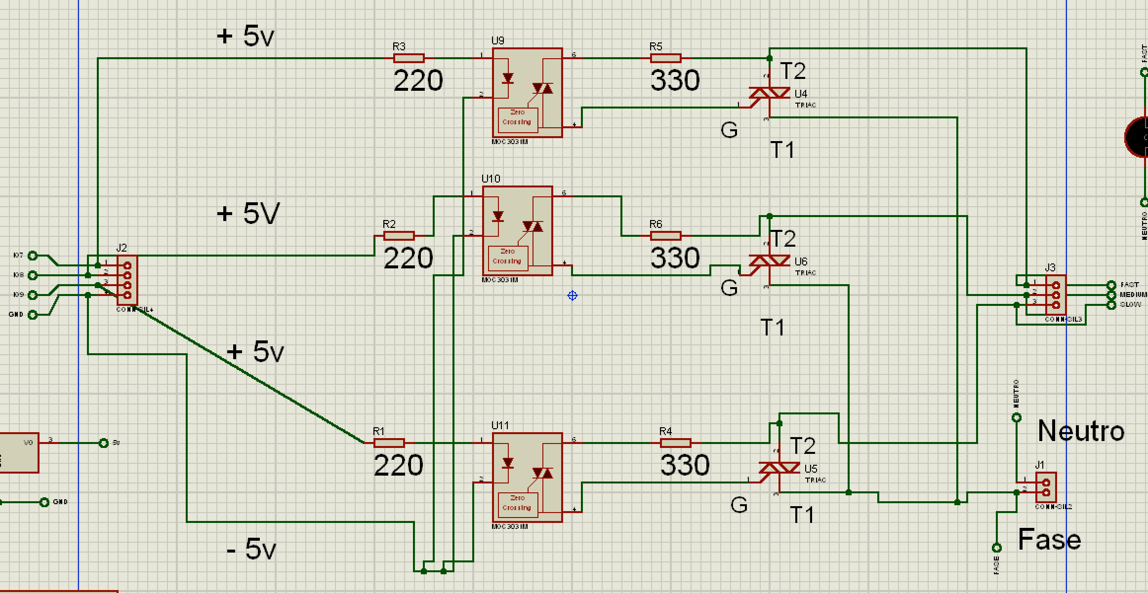Fun Electronics With Fan Heres The Other Side Of Circuit Board New Triac Here Is Microcontroller Atmega328 An L7805 Limiter